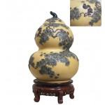 黄金段松鼠葡萄葫芦罐 净高:50公分